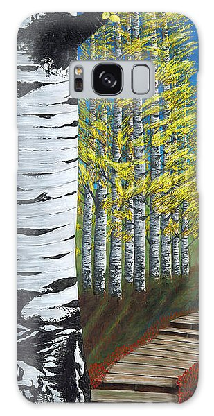 Walk Through Aspens Triptych 1 Galaxy Case by Rebecca Parker