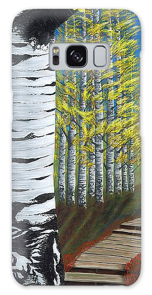 Walk Through Aspens Triptych 1 Galaxy Case