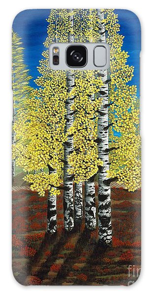 Walk Through Aspens Triptych 2 Galaxy Case