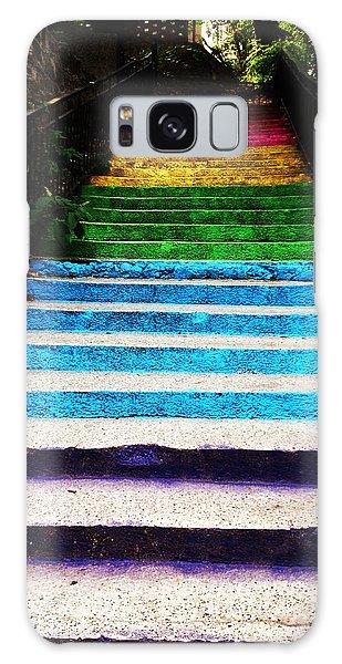 Walkin' On Rainbow Galaxy Case