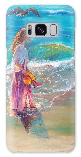 Walking In The Waves Galaxy Case