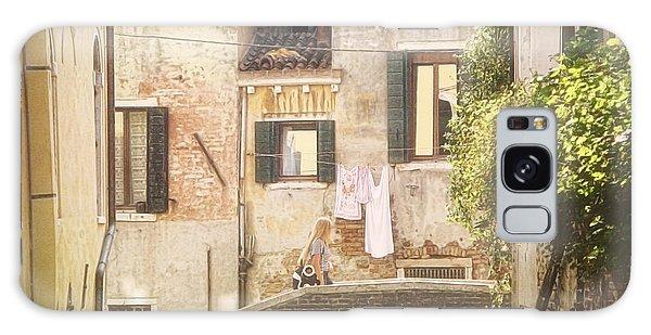Walking In Venice Galaxy Case by Nicola Nobile