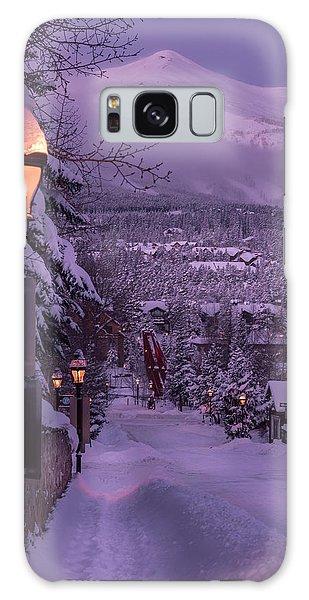 Walking In Winter Galaxy Case by Michael J Bauer