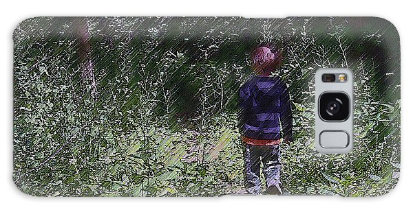 Boy Walking Into The Woods Galaxy Case by Ellen Tully