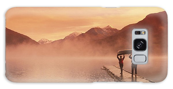 Walking On Dock Robe Lake  Sunrise Sc Galaxy Case by Michael DeYoung