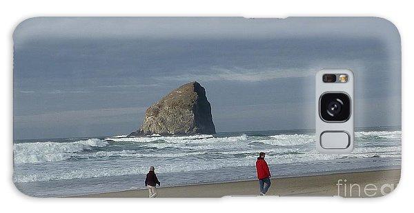 Walking On The Beach Galaxy Case by Susan Garren