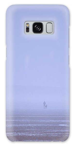 Walking The Dog In The Mist Galaxy Case by Spikey Mouse Photography