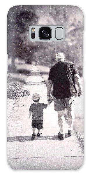Walking With Grandpa Galaxy Case