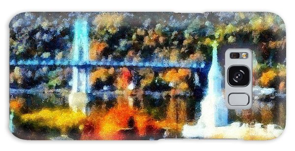 Walkway Over The Hudson Autumn Riverview Galaxy Case