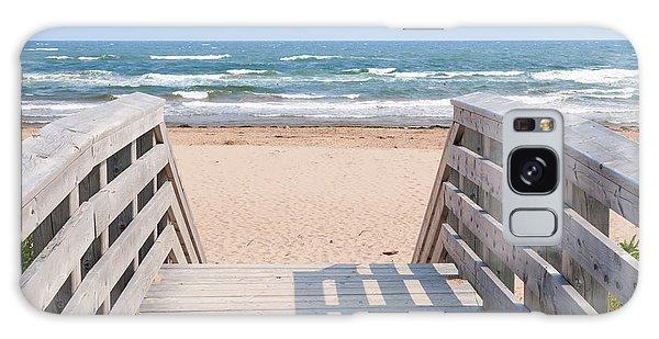 Board Walk Galaxy Case - Walkway To Atlantic Beach by Elena Elisseeva