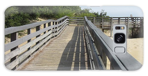 Walkway To Jockeys Ridge  Galaxy Case by Cathy Lindsey