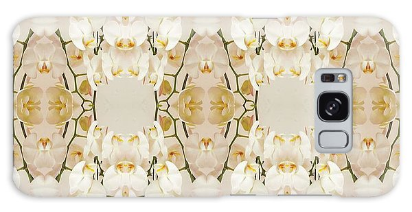 Wall Of Orchids Panorama Galaxy Case