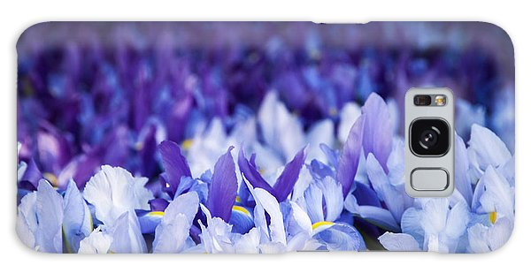 Wall Of Purple Iris Galaxy Case