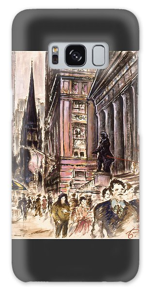 New York Wall Street - Fine Art Galaxy Case