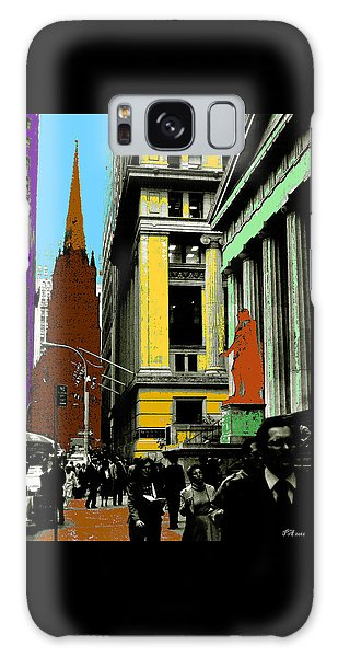 New York Pop Art - Blue Green Red Yellow Galaxy Case by Art America Gallery Peter Potter