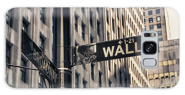 Wall Street Sign Galaxy Case