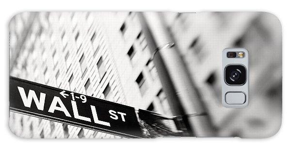 Wall Street Street Sign Galaxy Case