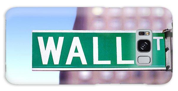 Wall Street Street Sign Galaxy Case by Wernher Krutein