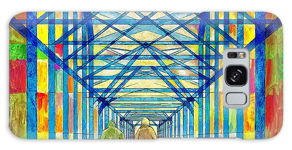 Walkers On The Bridge Poster Galaxy Case