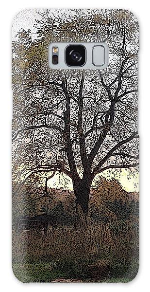 Walnut Tree Series Poster Edges Galaxy Case