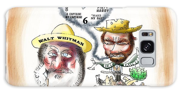 Walt Whitman Meets Clint Eastwood Galaxy Case