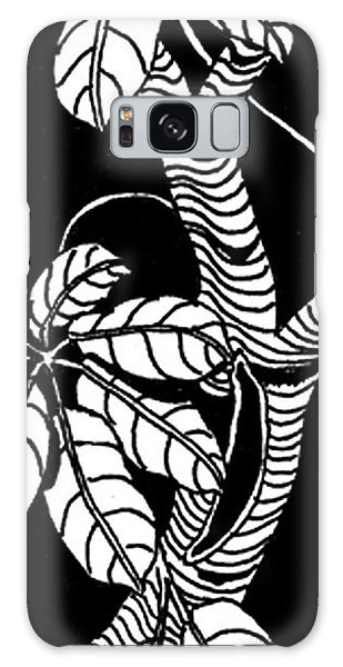 Wandering Leaves Octopus Tree Design Galaxy Case
