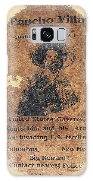 Wanted Poster For Pancho Villa After Columbus New Mexico Raid  Galaxy Case