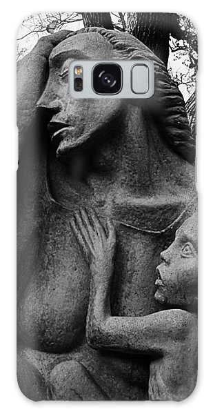 War Mother By Charles Umlauf In Black And White Galaxy Case