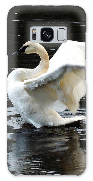 Ward Lake Swan Galaxy Case by Karen Horn