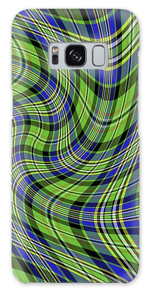 Warped Scott Ancient Green Tartan Galaxy Case