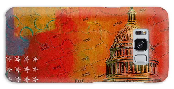 Central America Galaxy Case - Washington City Collage Alternative by Corporate Art Task Force