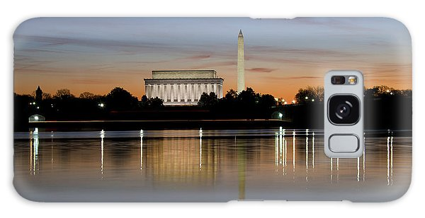 Washington Dc - Lincoln Memorial And Washington Monument Galaxy Case
