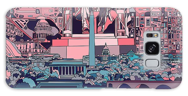 Washington Dc Skyline Abstract 2 Galaxy Case by Bekim Art