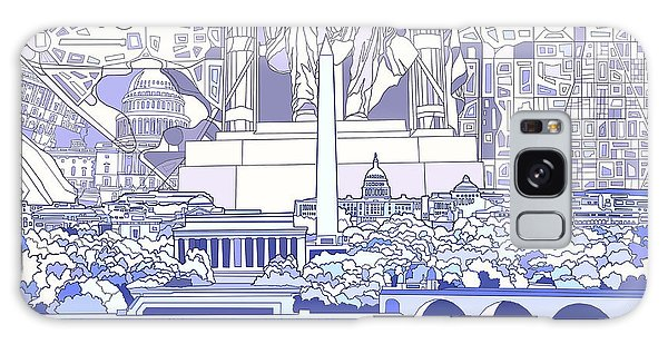 Washington Dc Skyline Abstract 3 Galaxy Case