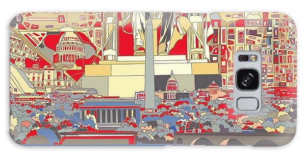Washington Dc Skyline Abstract 6 Galaxy Case
