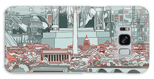 Washington Dc Skyline Abstract Galaxy Case by Bekim Art