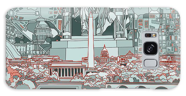 Lincoln Memorial Galaxy Case - Washington Dc Skyline Abstract by Bekim Art