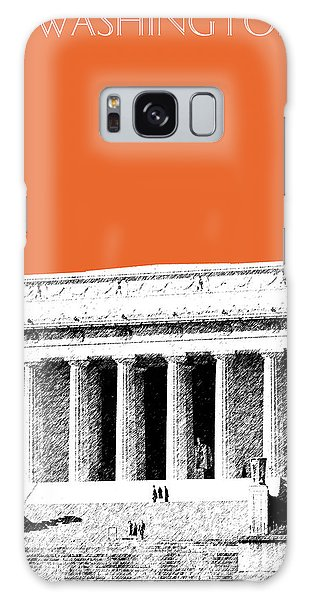 Washington Dc Skyline Lincoln Memorial - Coral Galaxy Case by DB Artist