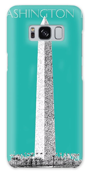 Washington Dc Skyline Washington Monument - Teal Galaxy Case