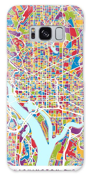 City Map Galaxy Case - Washington Dc Street Map by Michael Tompsett