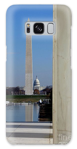 Lincoln Memorial Galaxy Case - Washington Landmarks by Olivier Le Queinec