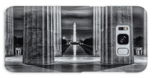 Washington Monument From Lincoln Memorial II Galaxy Case
