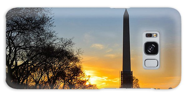 Washington Monument Under Repair Galaxy Case