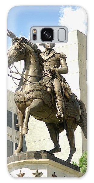 Washington On His Horse Galaxy Case