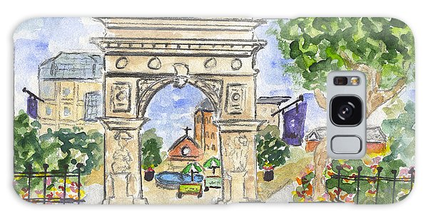 Washington Square Park Galaxy Case by AFineLyne