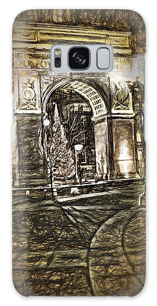 Washington Square Sketch Galaxy Case by Terry Cork