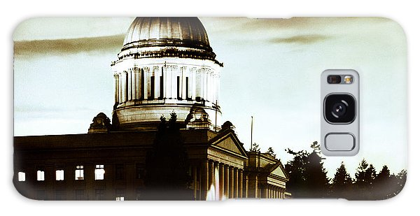 Washington State Capitol Campus And Tivoli Fountain Galaxy Case by Merle Junk