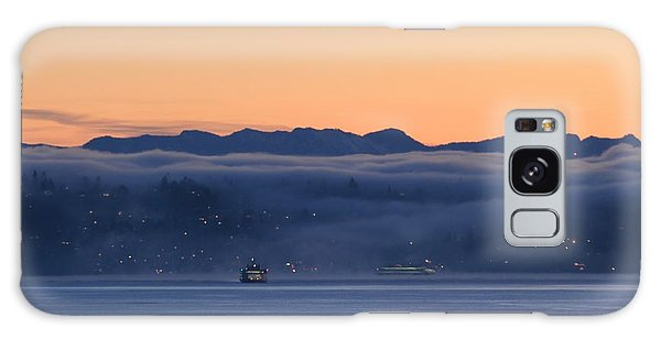 Washington State Ferries At Dawn Galaxy Case by E Faithe Lester