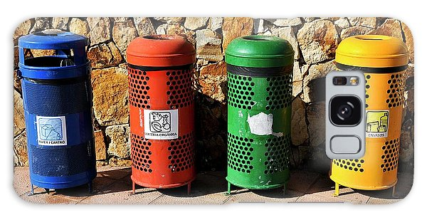 Rubbish Bin Galaxy Case - Waste Separation And Recycling Bins by Photostock-israel