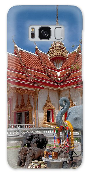 Wat Chalong Wiharn And Elephant Tribute Dthp045 Galaxy Case